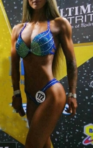 Green Blue Competition Bikini Suit
