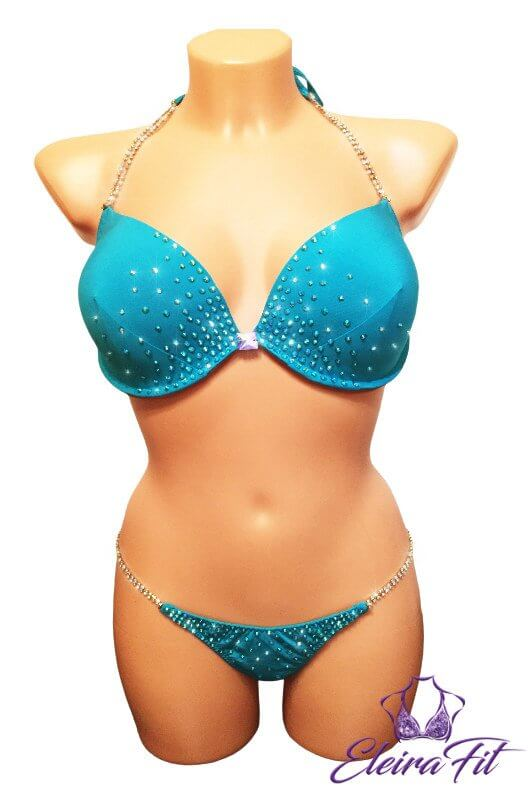 Mint Breeze Competition Bikini Suit 1