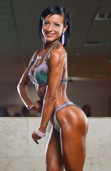 Bikini Competition Suit Dark Green Galaxy Competitor 1