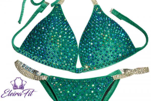 Green Bikini Competition Suit