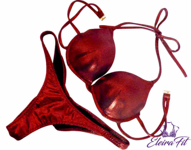 Plain Bikini in Cherry Red Color