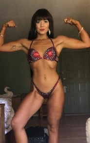 Cherry Red Competition Bikini Suit