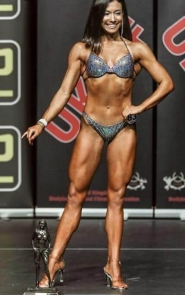 Bikini Competitor in Shades of Gray Competition Bikini