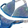 Ice Blue Fitness Competition Bikini Suit