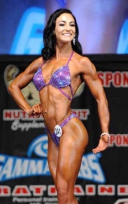 Bikini Competitor in Purple Dream Figure Bikini