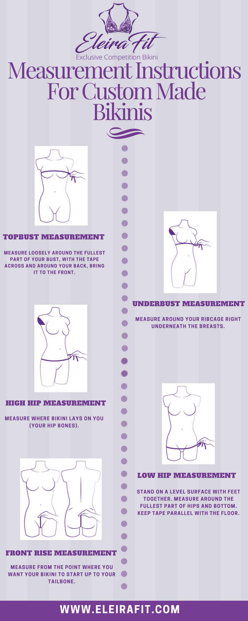 How to take measurements for competition bikinis