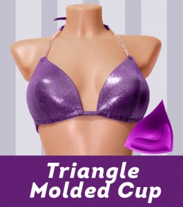 Triangle Molded Top for Bikini Competition Suit